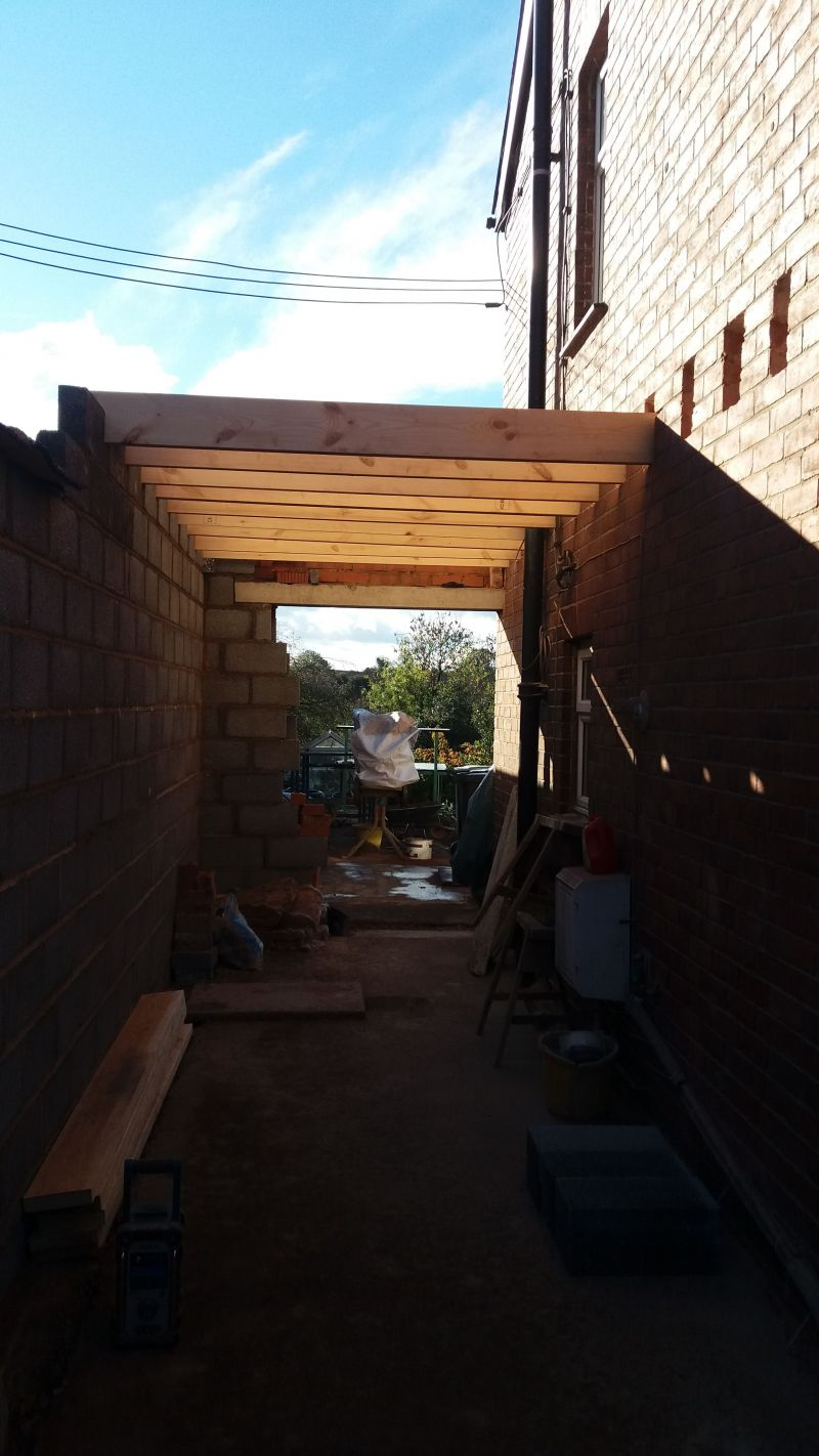 Beginning of two storey extension: Swipe To View More Images