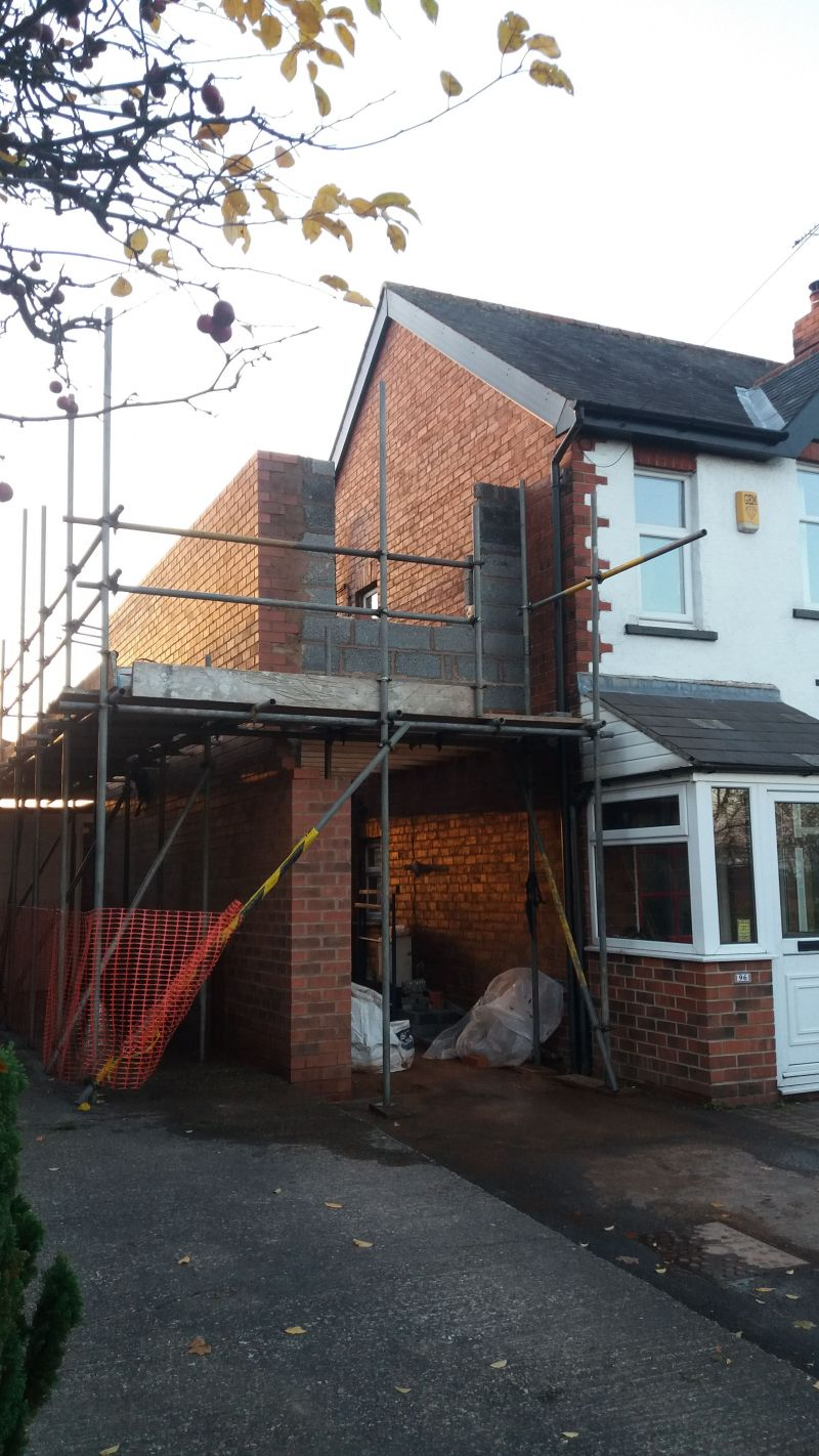 Two storey extension ongoing: Swipe To View More Images