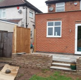 Rear extension and patio: Click Here To View Larger Image