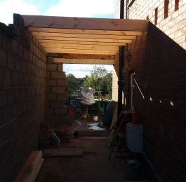 Beginning of two storey extension: Click Here To View Larger Image