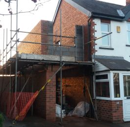 Two storey extension ongoing: Click Here To View Larger Image